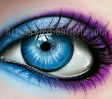 Blue and Purple Eye by gabbyd70