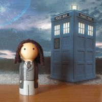 The Eighth Doctor peg doll by jen-random