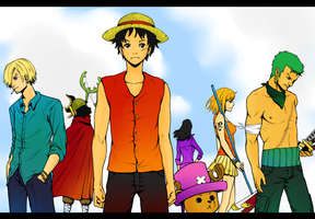 Straw Hat Pirates by InfectedPlushieLove