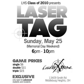 Laser Tag flyer by ribcages