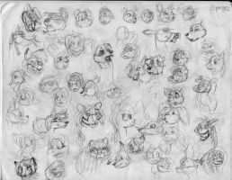 100 heads and poses P20 by Redfoxbennaton