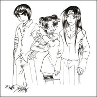 Lee, TenTen and Neiji Casual by MoonNeko