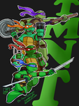 Aw yeah turtles by The-French-Belphegor