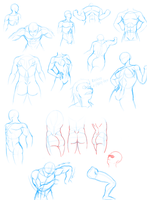 Dynamic Figure Drawing Practice by QuesoGr7