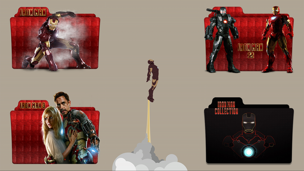 Iron Man Folder Icon Pack by gterritory