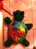 Bubbles the Rainbow Turtle!! by Psycheheart