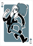 Adventure Time Style Hiji - Five of Spades by catiniata