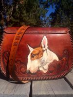 Leather pet portrait purse 2 back by Katiefiorito