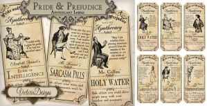 Pride And Prejudice Labels by VectoriaDesigns