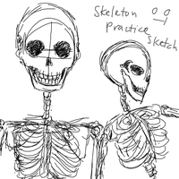 Skeleton Practice Sketch 1 by mimidan