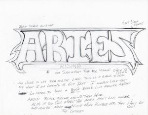 Aries Rising logo sketch rough