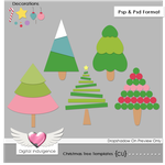 Christmas Tree Templates by Digital-Indulgence