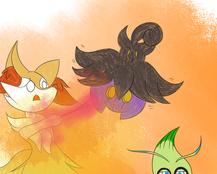 Braixen-Party Giveaway by BrokeBot
