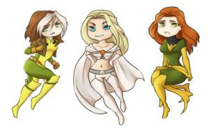X-ladies sticker set! by ladyarrowsmith