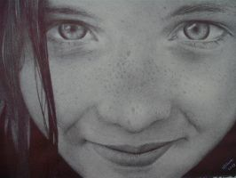 Ballpoint pen - Girl by Milena2011