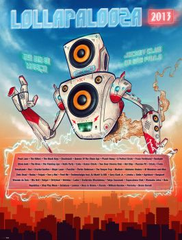 Poster Lollapalooza 2013 - MusicBot2000 by lucasvfa