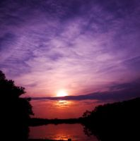 Sunset on Holly Lake by LAPoetry-n-Photo