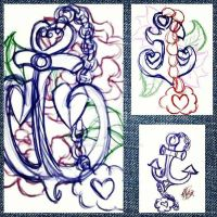 Commission WIP: Anchor Tattoo by Twilightzonegirl13
