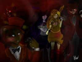 Five Nights At Freddy's (Human!) by honeypandabunny