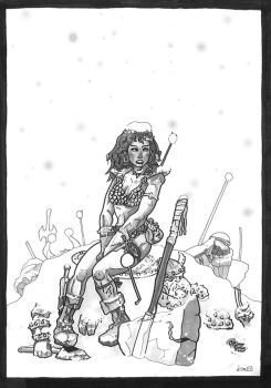 Red sonja BW. by didism