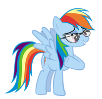 Rainbow Dash with Glasses by Derpy-Maple