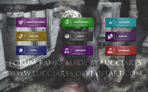 Forum ranks for CS project. by lucciArts