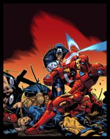 Civil War Color Battle by Ross-A-Campbell