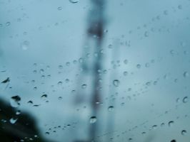 behind water droplets 1 by blubooelle