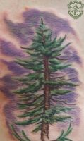 Purple Pine Tattoo done by Sean Ambrose by seanspoison