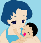 Ami Mizuno with me as baby by MarcosPower1996
