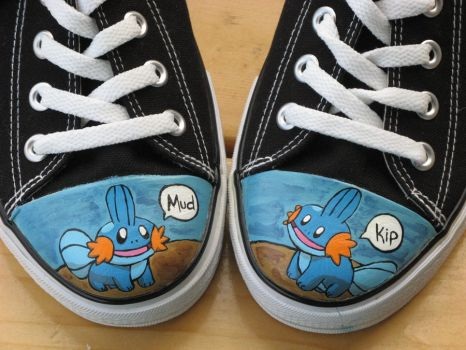 Mudkip Shoes by kayleigh29