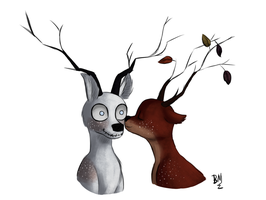 Deers Love by Maimed-Bunny