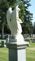 Mount Olivet Cemetery Archangel Uriel 67 by Falln-Stock