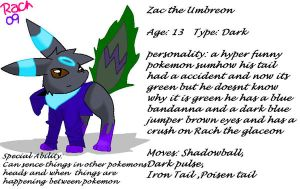 Zac the umbreon ref by SnugglePuffs