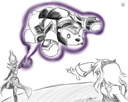 Freesketch 71: Syndra's Bear by everwander