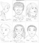Steven Universe character sketches--ink by Avalon620