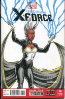 Uncanny X-Force Storm sketchcover by nguy0699