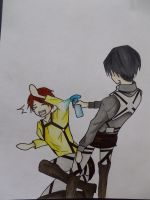 The Cleaning-Freak and Eren by zarl71