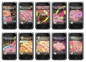Donut iPhone Wallpapers by rosannabell