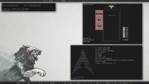 Archlinux + Subtle The Lion by ferminx360