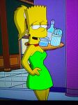 ''Marge flavoured'' adult female Bart by Insert-artistic-nick