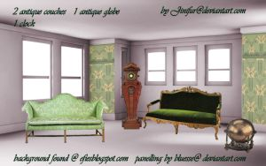 Antique furniture in png 4 by jinifur