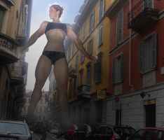 giantess and the city by crazyfck
