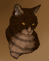 .:Art Trade:. Brambleclaw Portrait by Fenrir49
