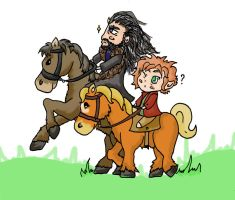 Thorin is trying to impress Bilbo! by Orikunie