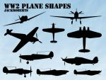Custom Shapes: WW2 Planes by jackroberts