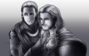 Thor and Loki by Firipa