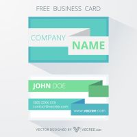 Blue Professional Business Card Free Vector by vecree