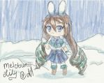 [3DS] Winter Usagi [ArtAcademy] by MeloBunii