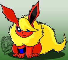 Heath, my Flareon by TheDocRoach